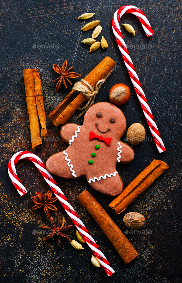 gingerbread with aroma spice - Stock Photo - Images
