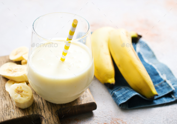 banana drink - Stock Photo - Images