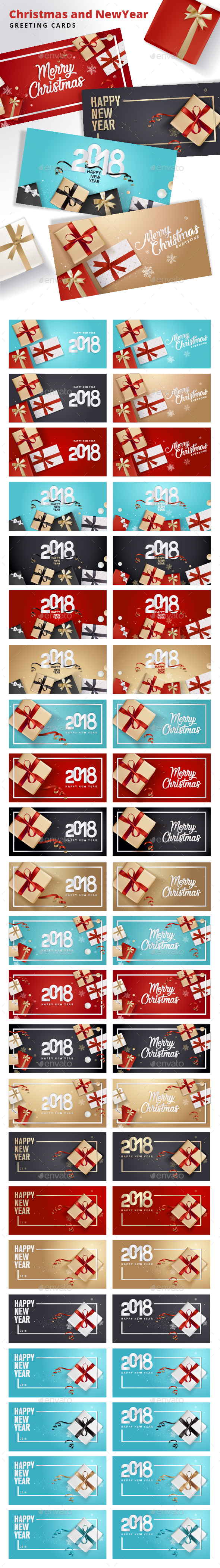 Christmas and New Year's Greeting Cards - New Year Seasons/Holidays