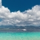 Azure Sea on Background Lombok Island with Sky and Clouds, Indonesia - VideoHive Item for Sale