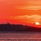 The Sunsets Over the Mountain of the Island of Gili, Indonesia - VideoHive Item for Sale