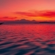 Colorful Sunset in the Sea on Background Boat and Volcano Agung, Indonesia - VideoHive Item for Sale