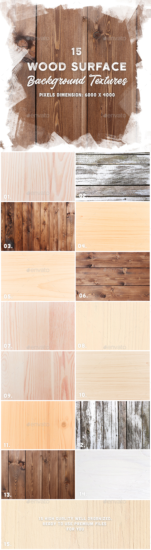 15 Wood Surface Background Textures - Wood Textures
