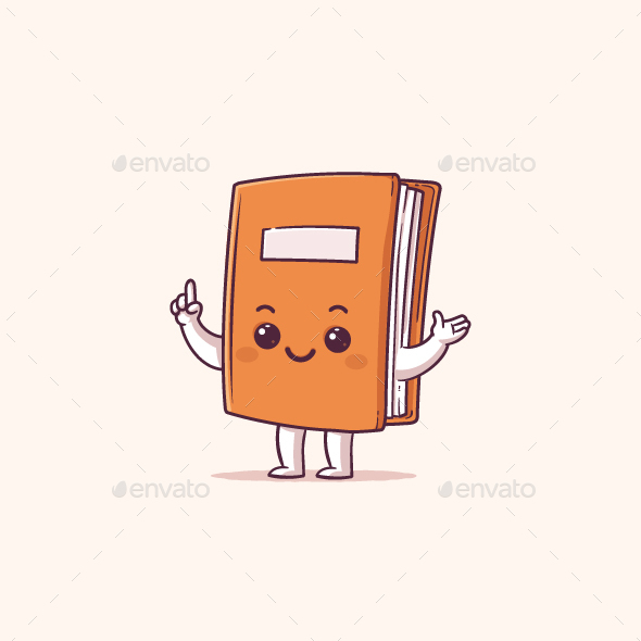 GraphicRiver Book Mascot 21095756