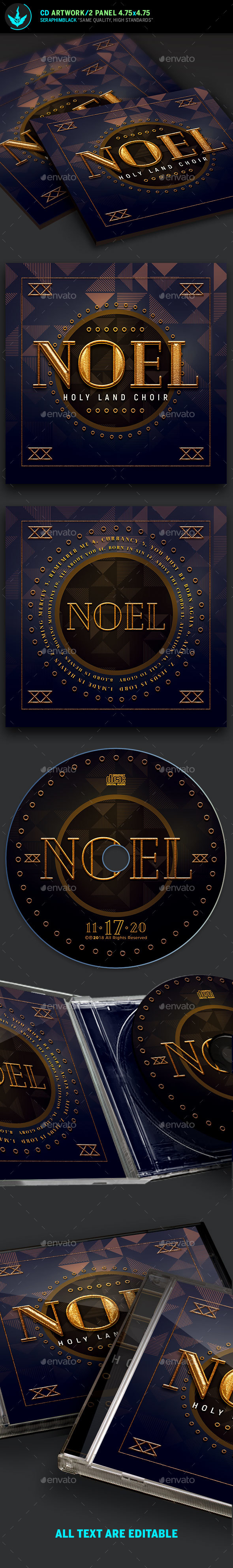 Noel Christmas CD Artwork Template - CD & DVD Artwork Print Templates