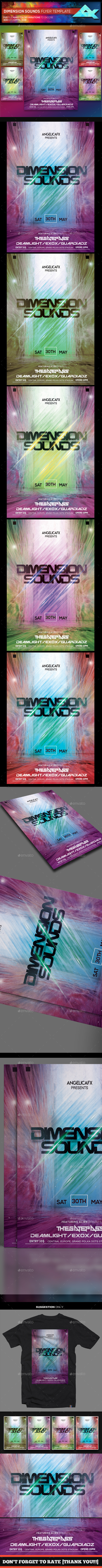 GraphicRiver Dimension Sounds Flyer Template 21095853