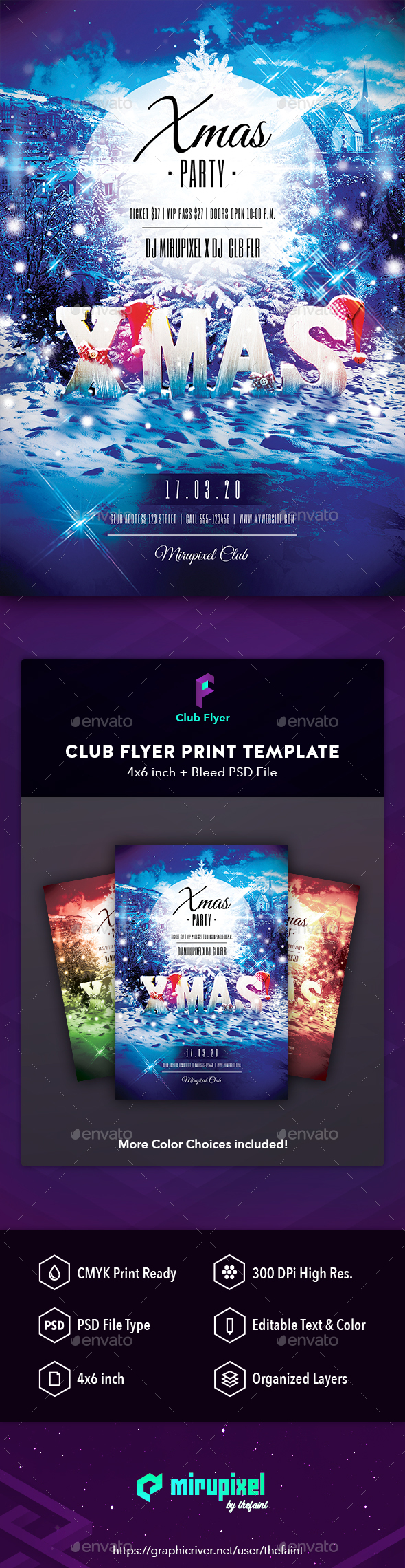 GraphicRiver Club Flyer Xmas 21095855