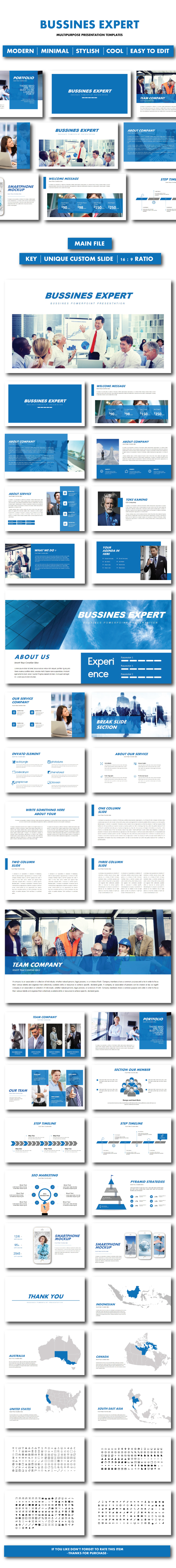 Expert Business Keynote - Business PowerPoint Templates