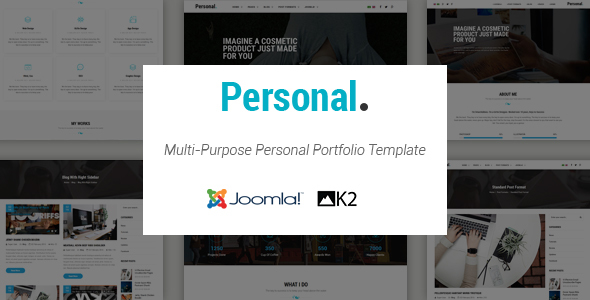 Personal - Responsive Multi-Purpose Personal Portfolio Joomla Template With Page Builder