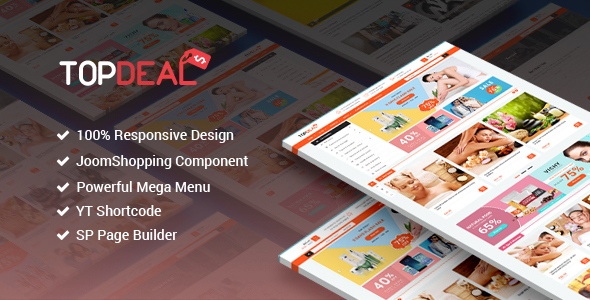 Image of TopDeal - Responsive Multipurpose Deal, eCommerce Joomla Template With Page Builder