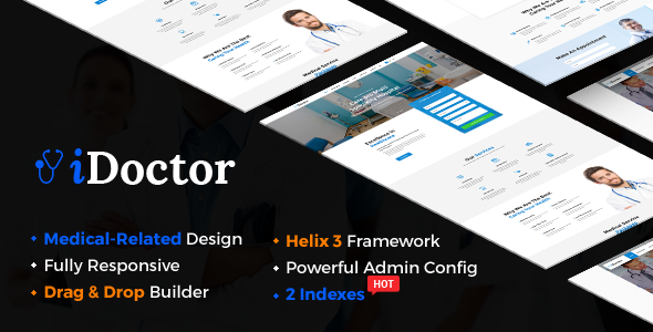 Image of iDoctor - Responsive & Multipurpose Medical Joomla Template With Page Builder