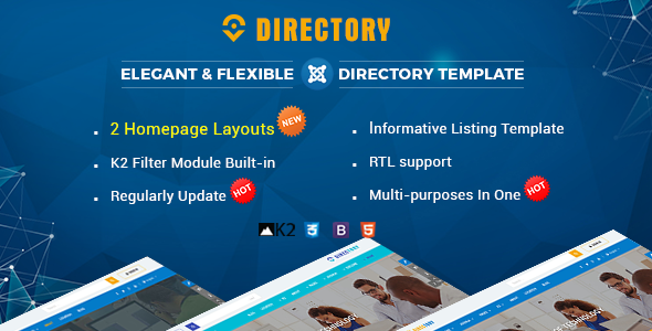 Directory - Responsive Ultimate Directory Joomla Template - Joomla CMS Themes