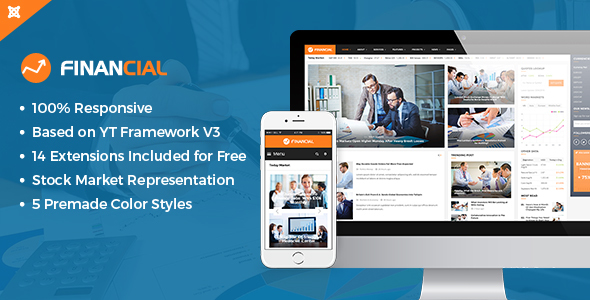 Financial III - Responsive Business and Financial Joomla Template - Blog / Magazine Joomla
