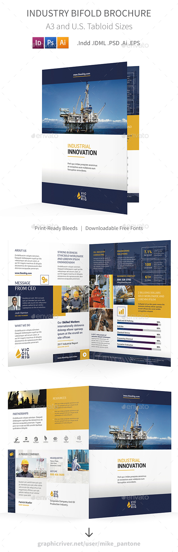 GraphicRiver Industry Bifold Halffold Brochure 21095918