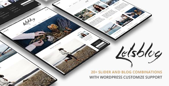 Lets Blog   Blog WordPress for Blog - Personal Blog / Magazine