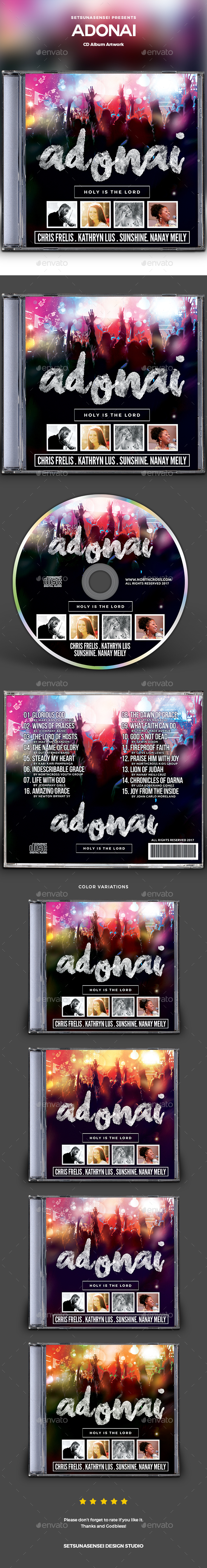 Adonai CD Album Artwork - CD & DVD Artwork Print Templates