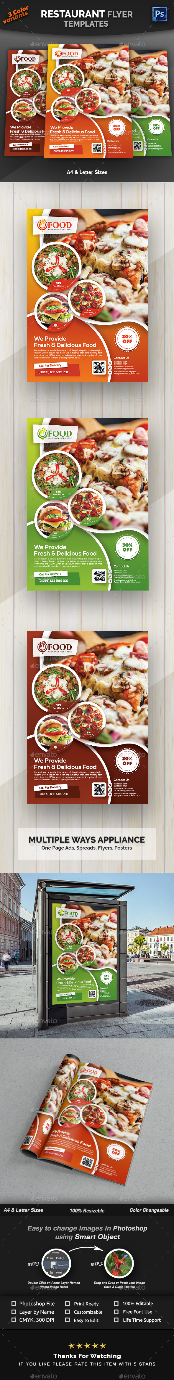 Restaurant Flyer Template - Restaurant Flyers