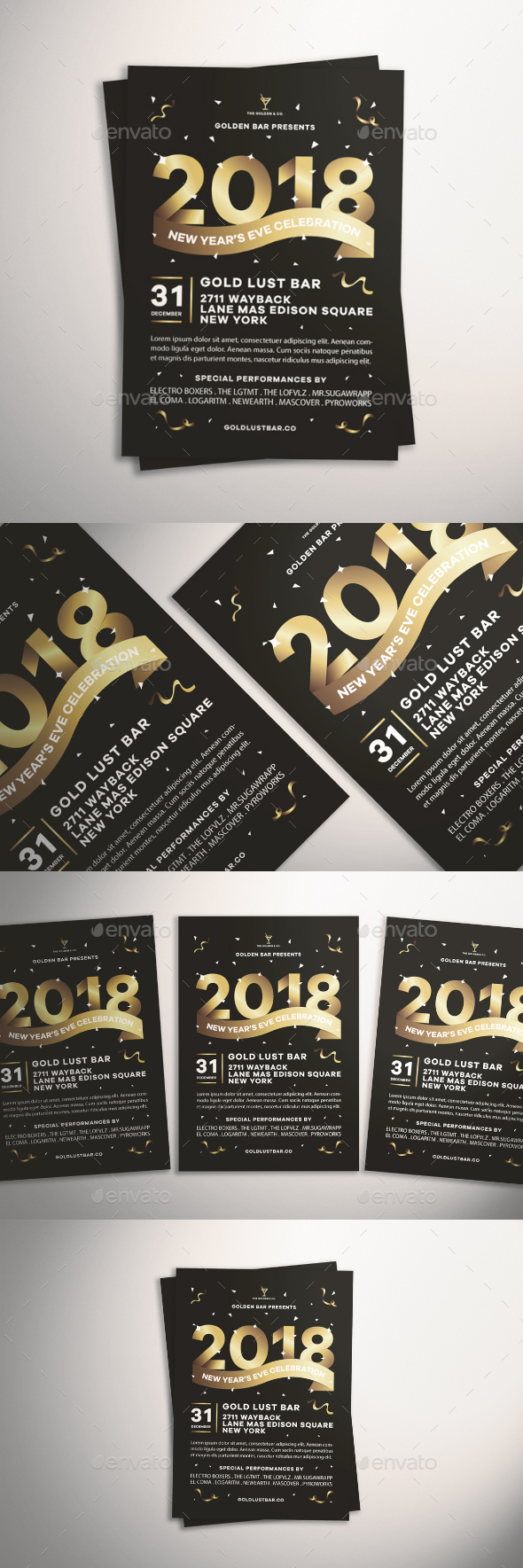 New Year's Eve Flyer - Events Flyers