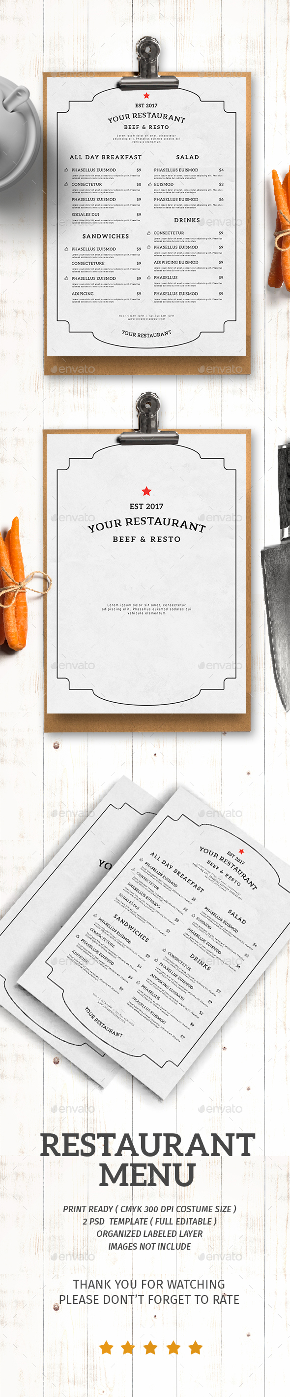 GraphicRiver Restaurant Menu 21095984
