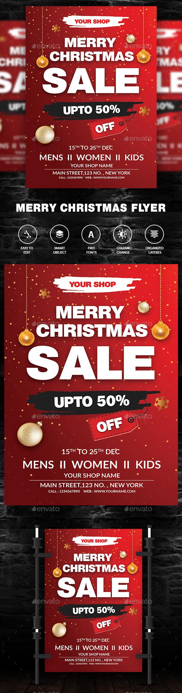 GraphicRiver Christmas Sale Flyer 21096166