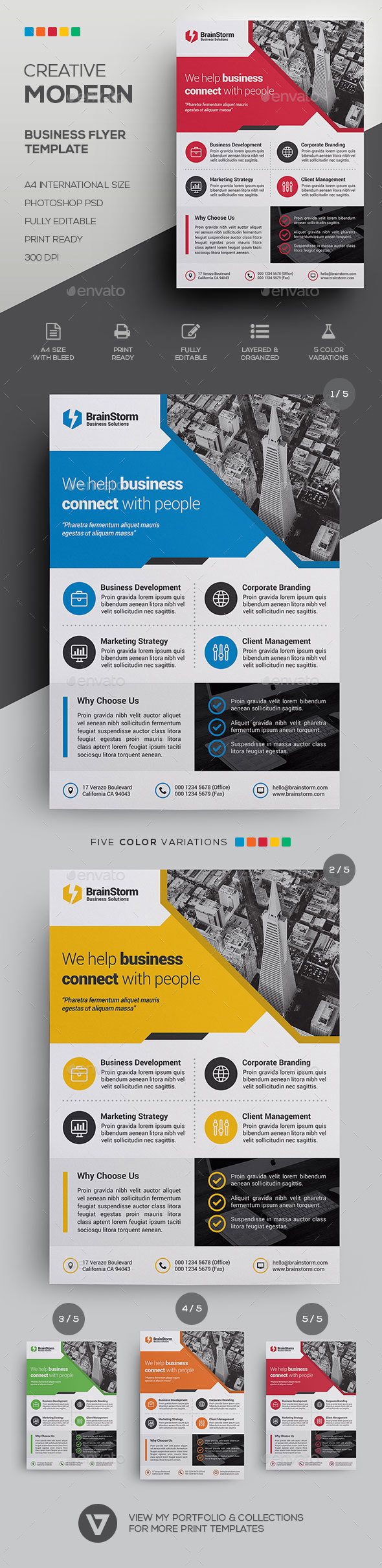GraphicRiver Corporate Business Flyer Template 21096340