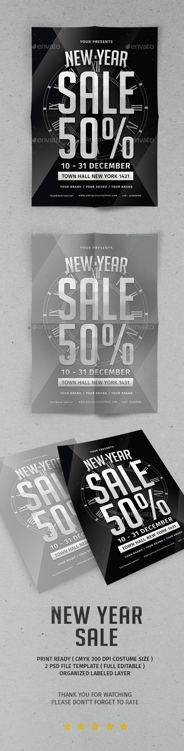 GraphicRiver New Year Sale Flyer 21096343