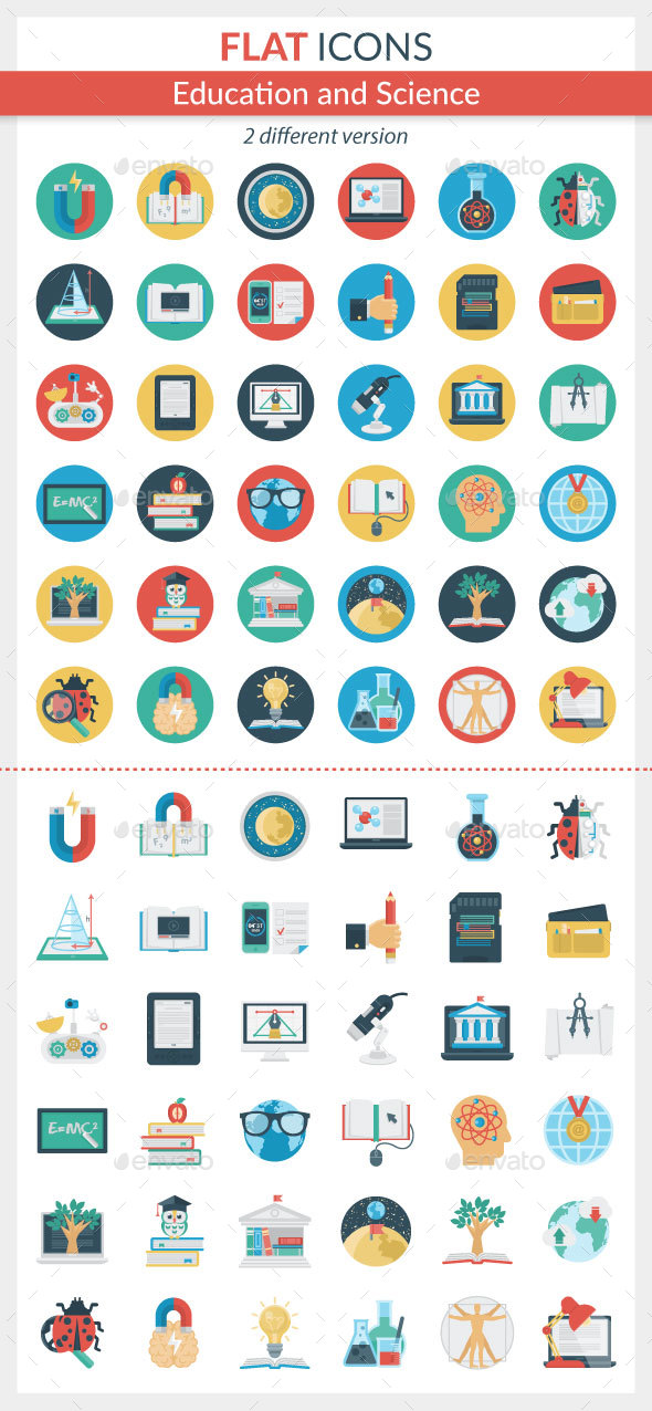 GraphicRiver Education and Science icons 21096363