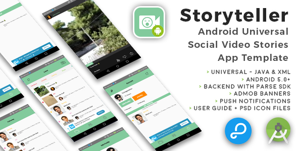 Storyteller | Android Universal Video Sharing App Template - CodeCanyon Item for Sale