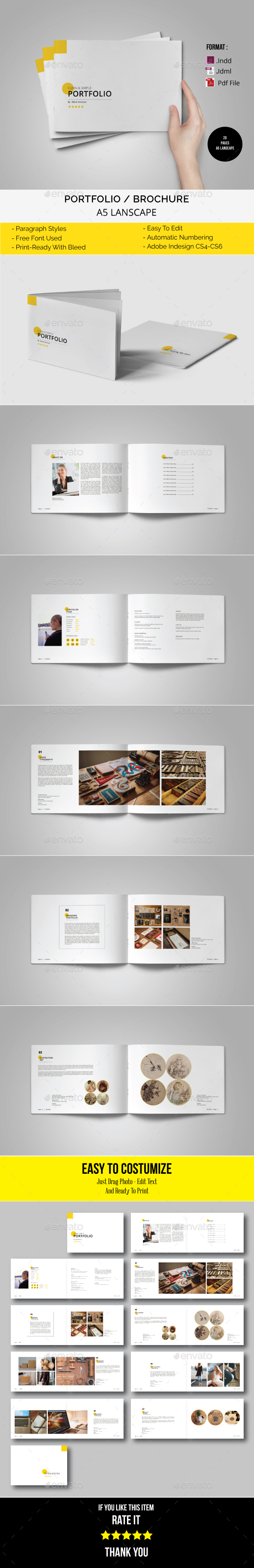 GraphicRiver A5 Lanscape Brochure Portfolio 21096393