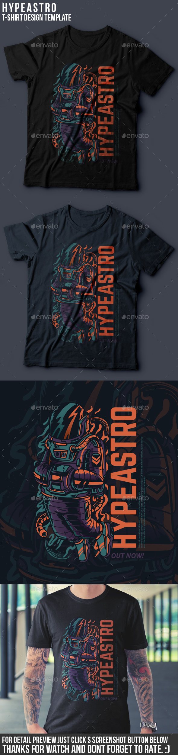 Hypeastro T-Shirt Design - Grunge Designs