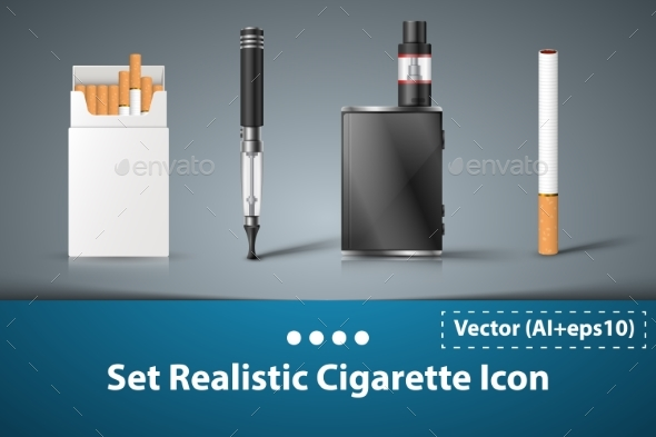 GraphicRiver Electronic Cigarette Set 21096427