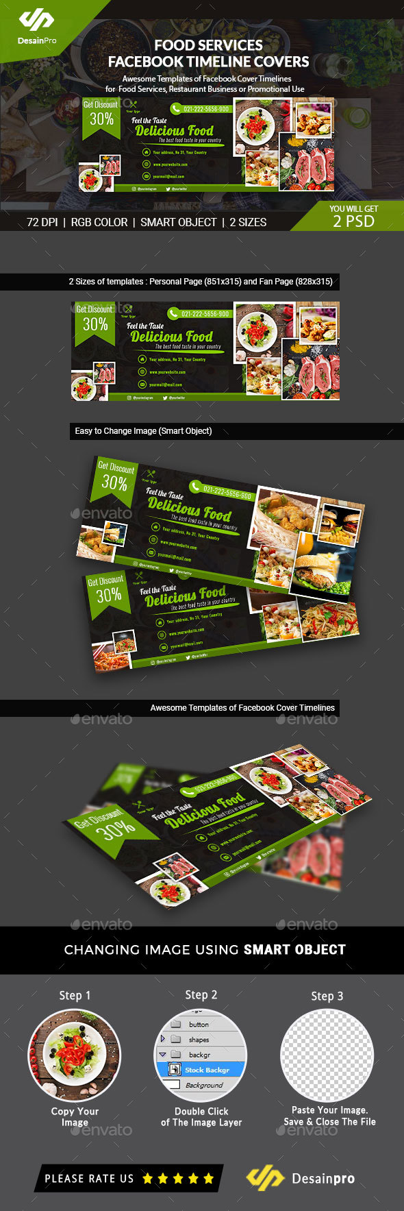 Food Business Services Facebook Timeline Covers - AR - Facebook Timeline Covers Social Media