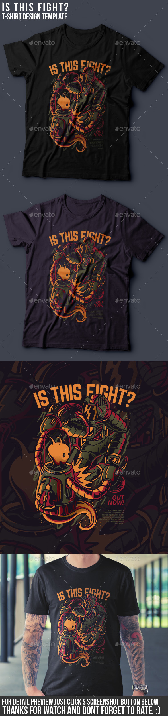 GraphicRiver Is This Fight T-Shirt Design 21096485