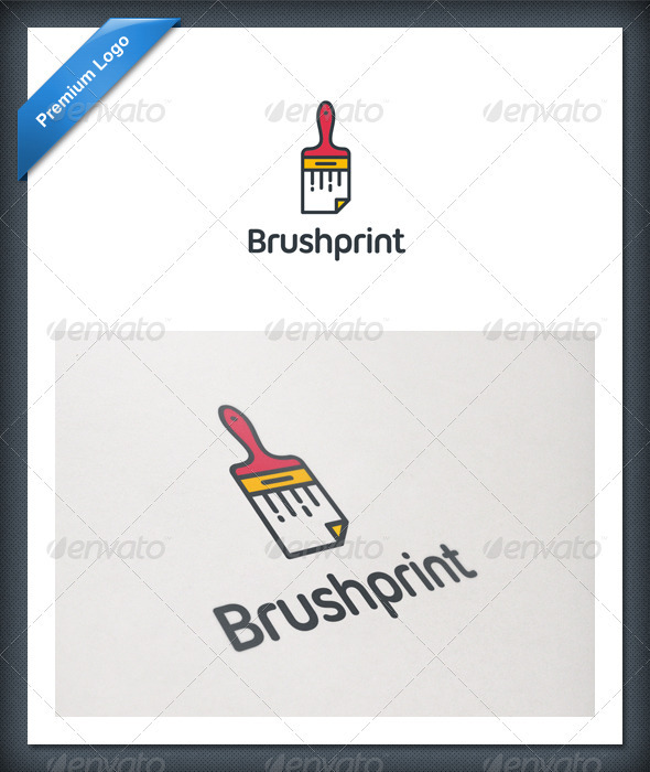 Brush Print Logo Template - Objects Logo Templates