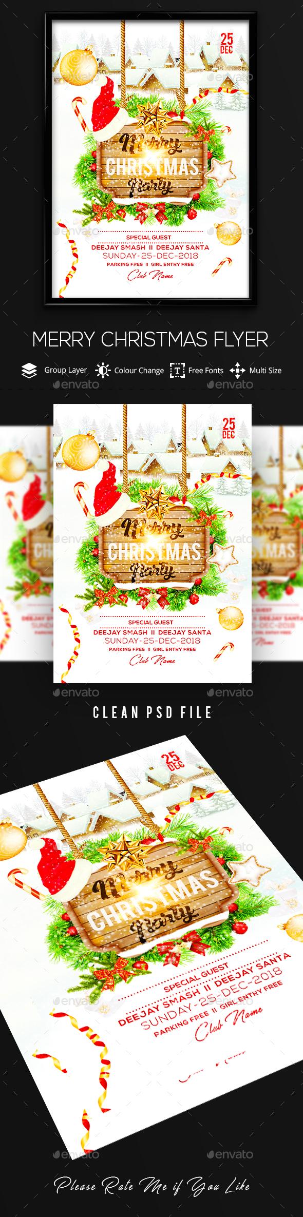 GraphicRiver Christmas Flyer 21096509