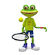 3D Illustration Frog with Tennis Racket - GraphicRiver Item for Sale