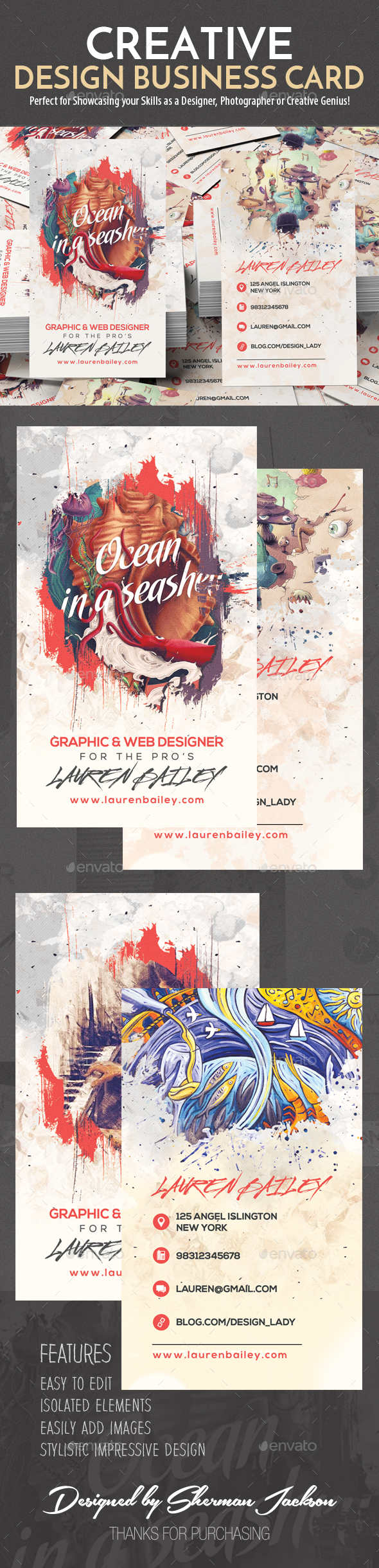 GraphicRiver Creative Design Business Card 21096605