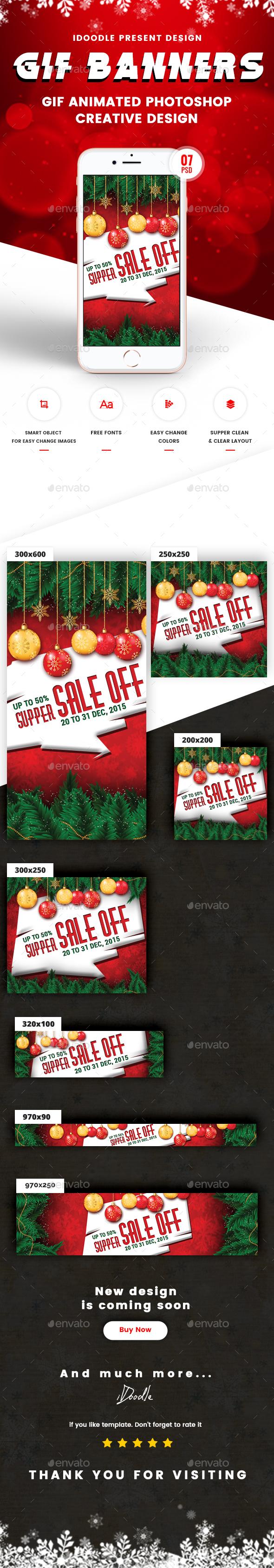 GraphicRiver Animated GIF Christmas Banners Ad 21096656