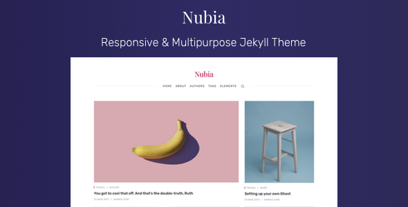 ThemeForest Nubia Responsive & Multipurpose Jekyll Theme 21096748