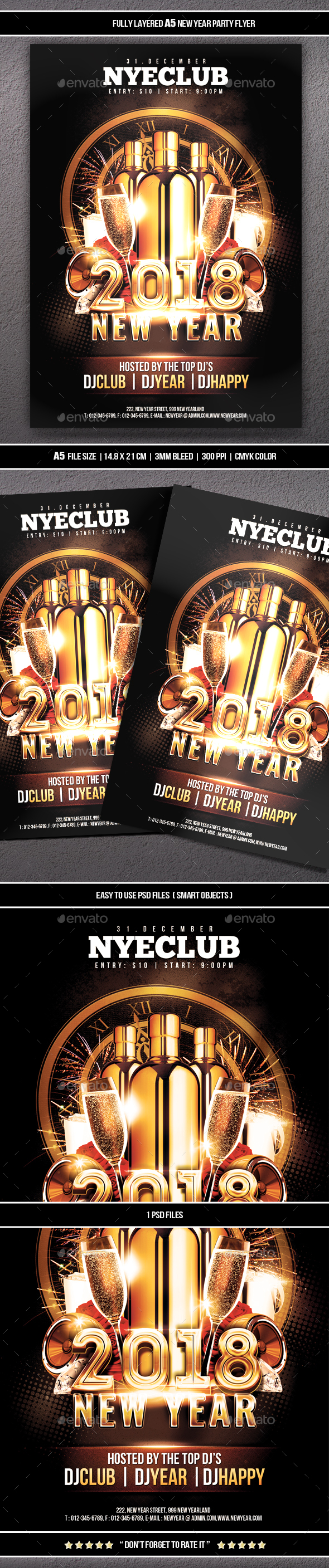 GraphicRiver New Year Party Flyer 21087294