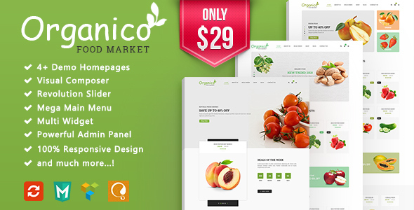 Image of Organico - Fresh Fruits Responsive WooCommerce WordPress Theme