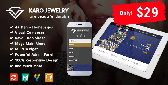 Image of Karo - Jewelry Responsive WooCommerce WordPress Theme
