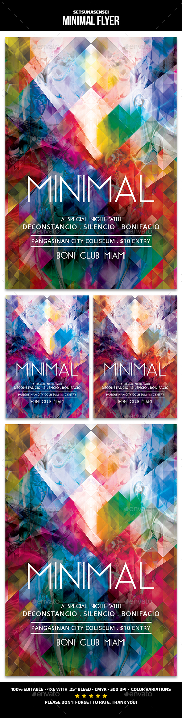 Minimal Flyer - Clubs & Parties Events