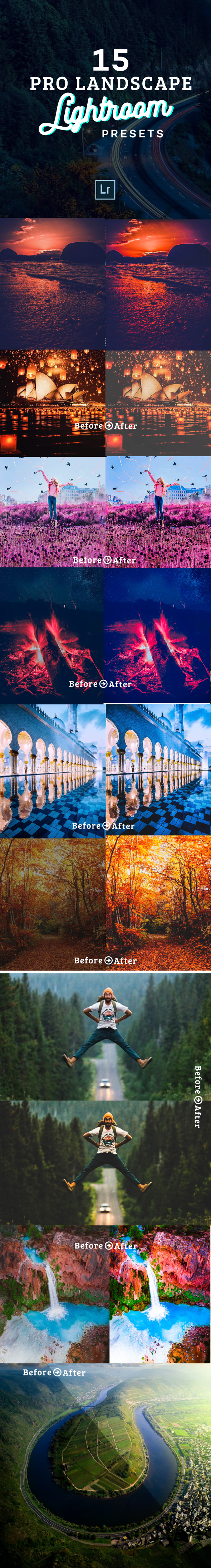GraphicRiver 15 Vivid Landscape Lightroom Presets 21096870
