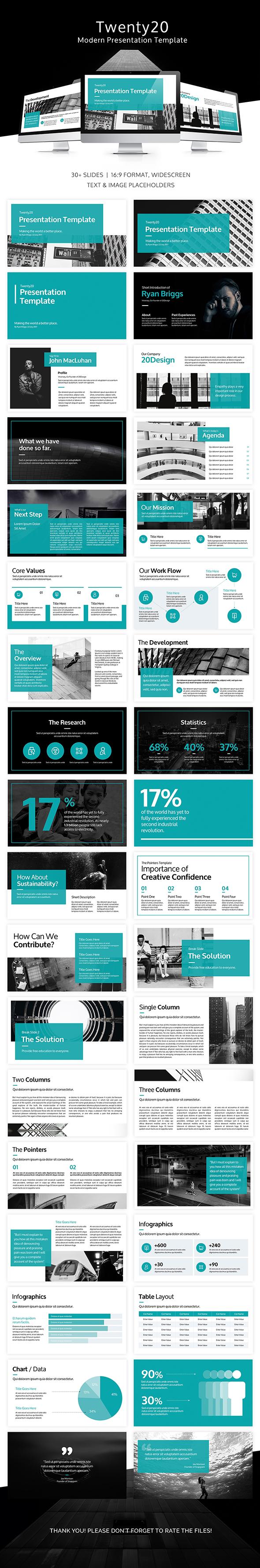 Twenty20 Google Presentation Slide Template - Google Slides Presentation Templates