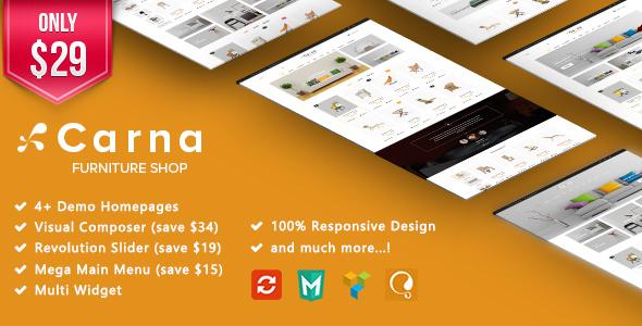 Carna - Furniture Responsive WooCommerce WordPress Theme - WooCommerce eCommerce