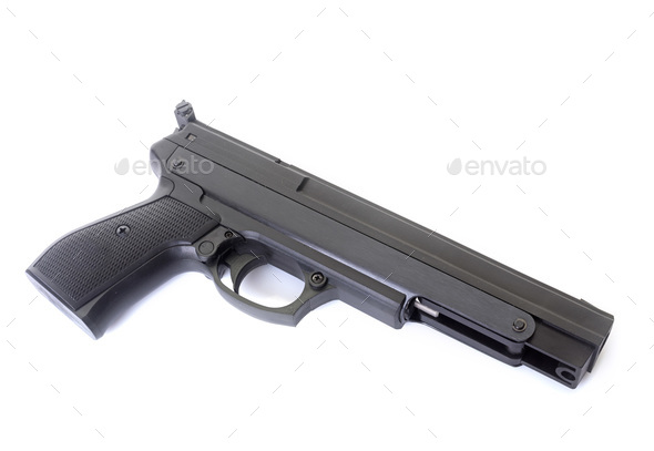 gun in studio - Stock Photo - Images