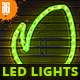 Animated Christmas LED Lights Rope Action