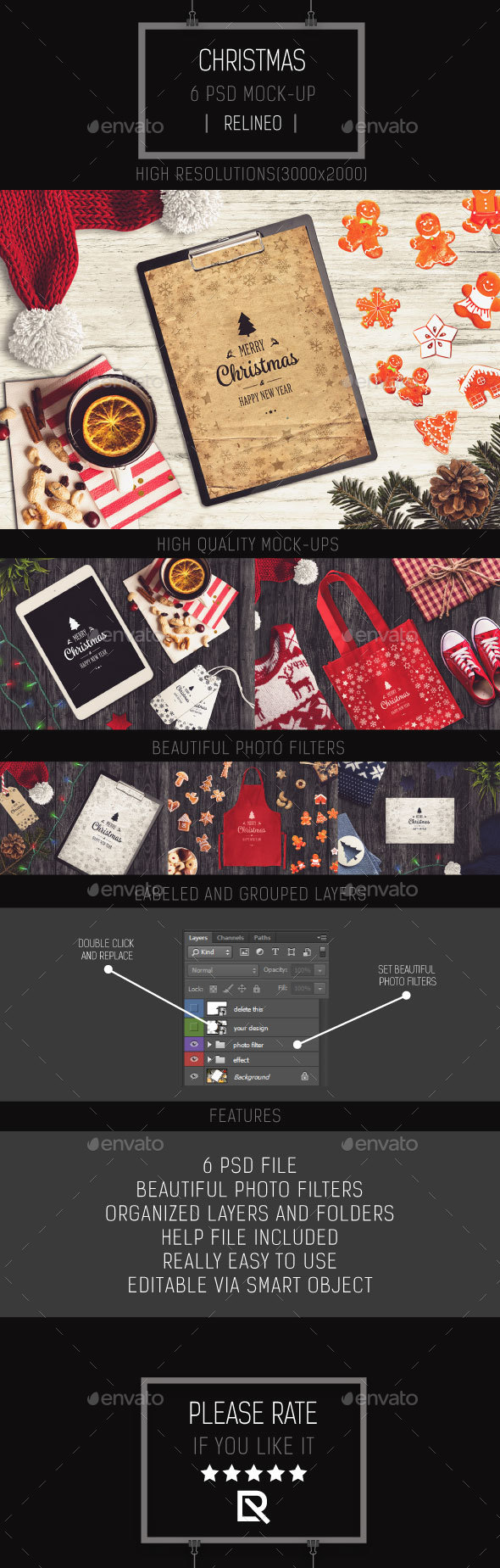 GraphicRiver Christmas Mock-up Pack Vol.5 21097111