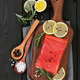 Fillet of salmon on cutting board - PhotoDune Item for Sale